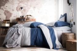 linge de lit TOI ET MOI ZAHARA bleu - ESSIX