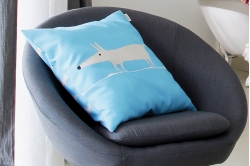 coussin garni MR FOX BLEU - SCION LIVING