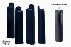 jeu de 5 pieds POLYPRO pour tube de 30 x 30 mm