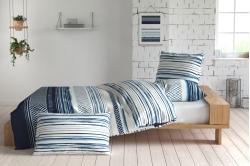 linge de lit HORIZON bleu - INSPIRATION par Anne de Solene
