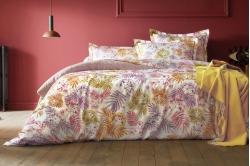 linge de lit SOUS BOIS bois de rose - BLANC DES VOSGES