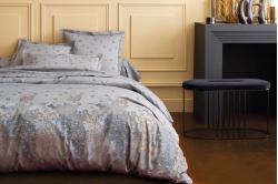 linge de lit DAPHNÉE bleu jean - BLANC DES VOSGES