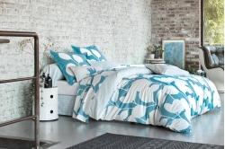 linge de lit STEPPES bleu canard - SCION LIVING
