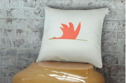coussin CIGOGNE orange - SCION LIVING