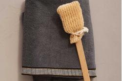 drap de bain SINGULIER gris - SYLVIE THIRIEZ