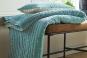 Coussin et dessus de lit TIBET CELADON - BLANC DES VOSGES