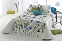 jeté de lit OKARA bleu