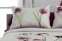 jeté de lit OKARA rose - coussins assortis