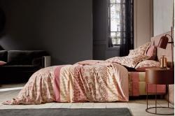 Parure de lit DECORUM bois de rose - BLANC DES VOSGES