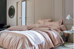 Parure de lit PHENIX bois de rose - BLANC DES VOSGES