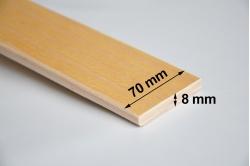 LATTE de sommier 70 x 8 mm - cintrée