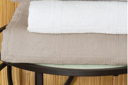 dessus de lit piqué de coton CHAMSAUR - TOISON D'OR