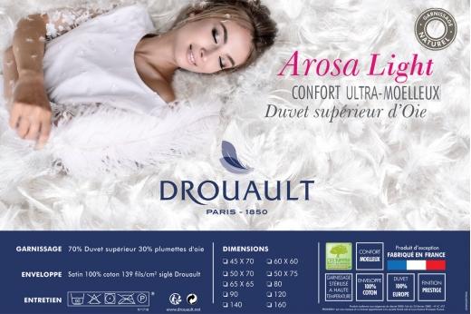 Oreiller AROSA LIGHT  ultra-moelleux - DROUAULT