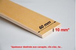 LATTE de canapé 60 x 10 mm - cintrée