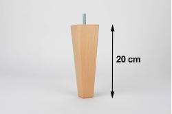 pied de lit carré conique LUPIN 20 cm (lot de 4)