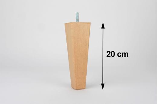 pied de lit 20 cm carré conique LUPIN