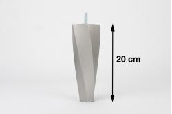pied de sommier 20cm forme torsadée (lot de 4)
