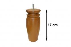 pied de lit 17 cm RUSTIQUE (lot de 4)