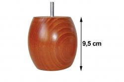 pied de lit 9,5 cm BOULE (lot de 4)
