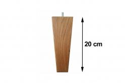 pied de lit en chêne 20 cm carré conique - MARGOT