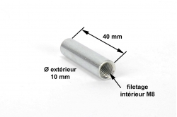 DOUILLE LISSE 10 mm - dimensions