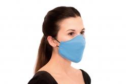 masque barrière pour adulte - BLEU CIEL