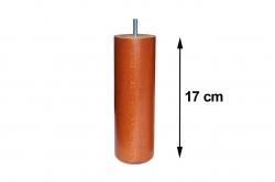 pied de sommier cylindrique bois hauteur 17 cm (lot de 4)