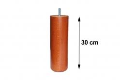 pied de lit CYLINDRIC 65 bois hauteur 25 cm (lot de 4)