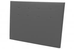 tête de lit à fixation murale AVANTAGE simili cuir gris -...