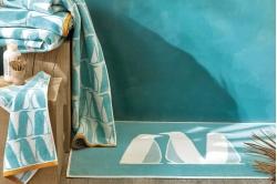 serviette invité 30x50 BANQUISE turquoise - SCION LIVING