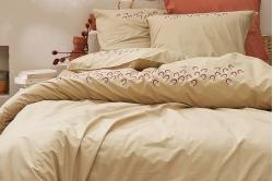 parure de lit FRANCESCA beige - SYLVIE THIRIEZ