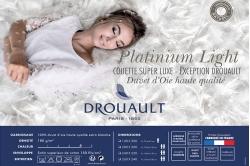 Couette 100% duvet d'oie PLATINIUM LIGHT - DROUAULT
