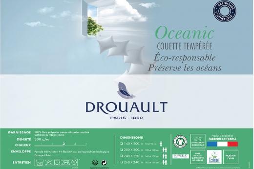couette bio et recyclée tempérée OCEANIC - DROUAULT