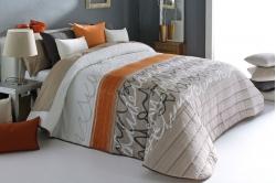 jeté de lit JOYCE beige / orange - REIG MARTI