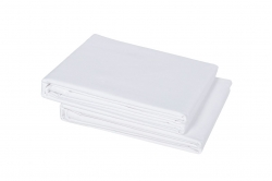 drap plat uni blanc SATIN DE COTON 270x300 - TRADITION...