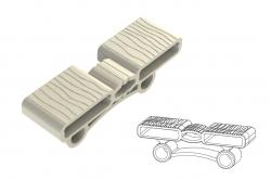 embout ZEBRA-T court - bilattes 38 x 8