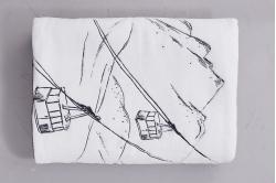 Plaid polaire EN PISTE - SYLVIE THIRIEZ