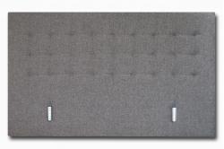 tête de lit CHARME capitonnée - tissu gris
