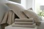 linge de lit UNI SATIN de coton - BLANC DES VOSGES - chanvre