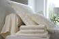 linge de lit UNI SATIN de coton - BLANC DES VOSGES - naturel