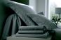 linge de lit UNI SATIN de coton - BLANC DES VOSGES - ardoise