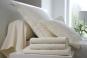 linge de lit UNI COTON PERCALE soft - BLANC DES VOSGES nougat