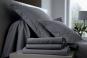 linge de lit UNI COTON PERCALE soft - BLANC DES VOSGES acier