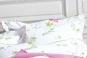 Ambiance oreiller linge de lit BUCOLIQUE rose BLANC DES VOSGES