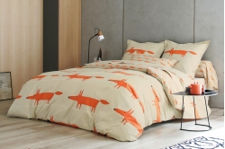 linge de lit MR FOX mandarine - SCION LIVING