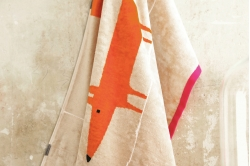 serviette de toilette MR FOX mandarine - SCION LIVING
