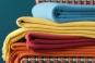 gamme de plaids en laine CUBA - BLANC DES VOSGES