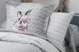 taie d'oreiller carrée motif lapin BUNNY - TRADILINGE