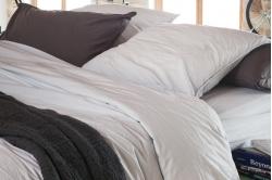 linge de lit coton lavé uni CAP FERRET - TOISON D'OR