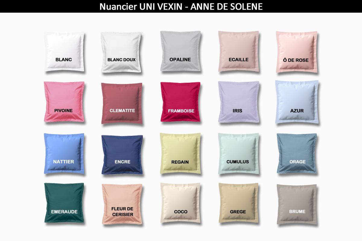 nuancier de coloris linge de lit percale Anne de Solène